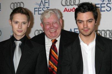 Samuel Barnett with Richard Griffiths and Dominic Cooper