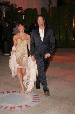 Adrien Brody and friend at 2006 Vanity Fair Oscar Party. Mortons, West Hollywood, CA. 03-05-06