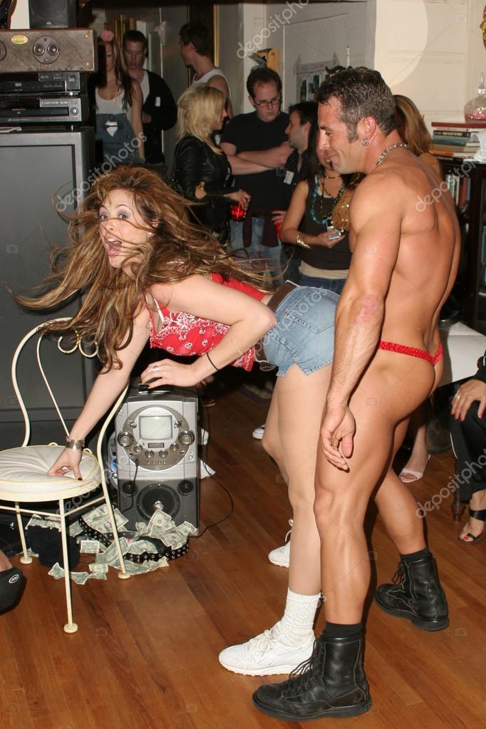 Private male stripper party