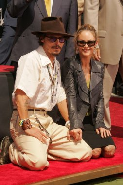 Vanessa Paradis with Johnny Depp
