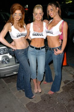 Alexandra Sullivan, Katie Lohmann and Jaimarie Bjorge out on the town at a private party, Mood, Hollywood, CA 08-03-05