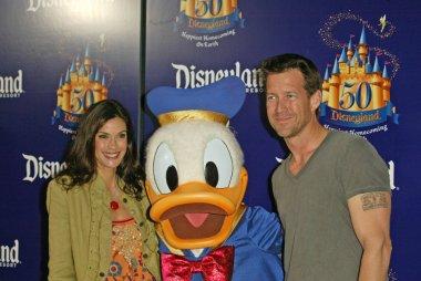Teri Hatcher, Donald Duck and Jamie Denton