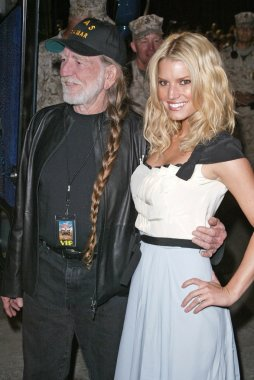 Willie Nelson and Jessica Simpson