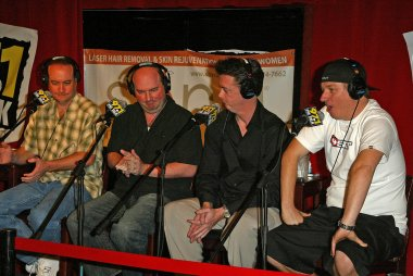 Tim Conway Jr and Brian Whitman with John and Jeff