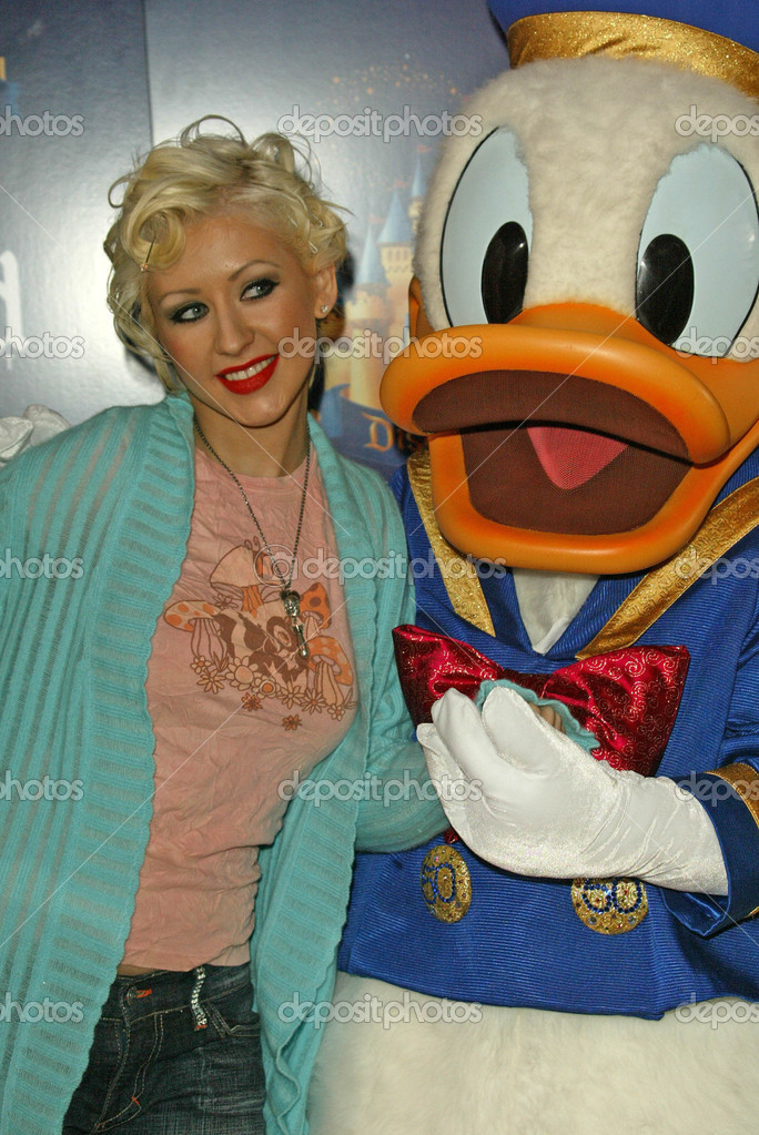 Christina aguilera donald duck think, what