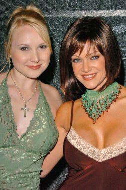 Alana Curry and Barbara Moore at Julie McCulloughs 40th Birthday Party, Yi Cuisine, West Hollywood, CA 01-30-05