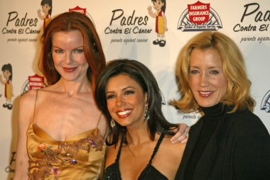 Marcia Cross, Eva Longoria and Felicity Huffman