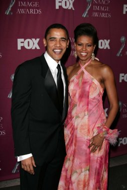 Barack Obama and wife Michelle Obama