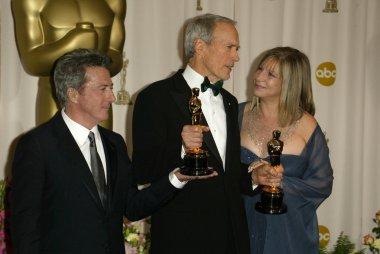 Barbra Streisand, Clint Eastwood and Dustin Hoffman