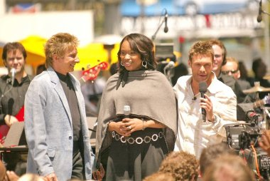 Barry Manilow, Jennifer Hudson and Ryan Seacrest