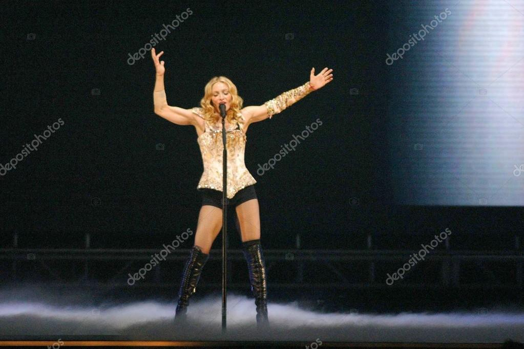 Madonna at the opening night of Madonna's