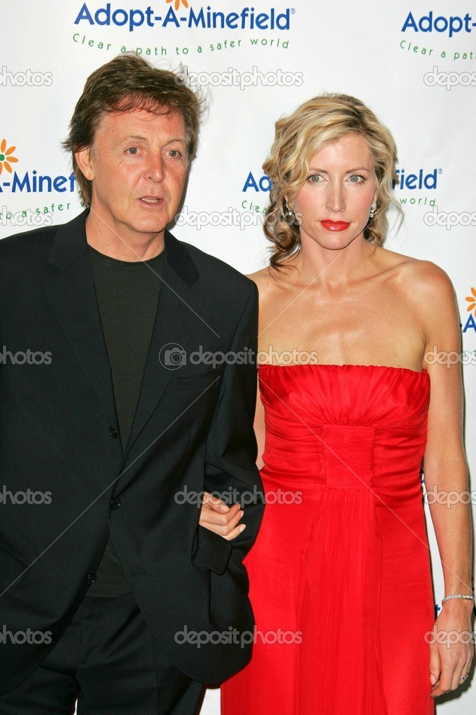 Sir Paul McCartney And Heather Mills Stock Photo