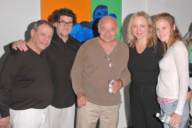 Burt Young and Brett Butler with other