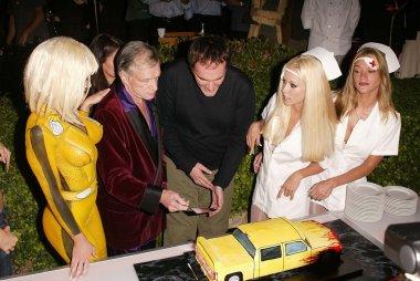 Hugh Hefner and Quentin Tarantino