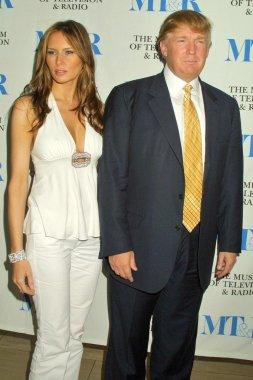 Melania Knauss and Donald Trump