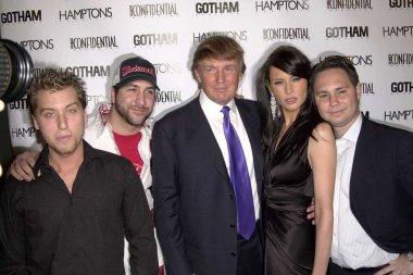 Lance Bass, Joey Fatone, Donald Trump, Melania Knauss and Jason Binn