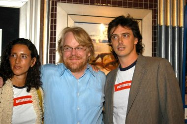 Rebecca Chaiklin, Philip Seymour Hoffman and Donovan Leitch