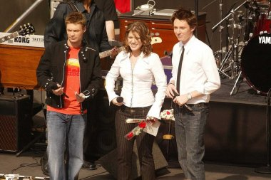 Ryan Seacrest, Kelly Clarkson and Clay Aiken