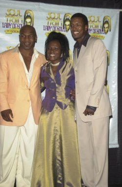Mike Tyson, Angela Spivey and Brian McKnight