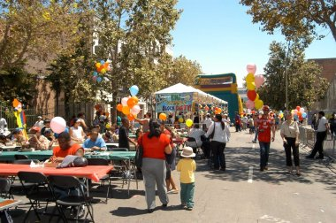 Atmosphere at Los Angeles Mission's End of Summer Block Party