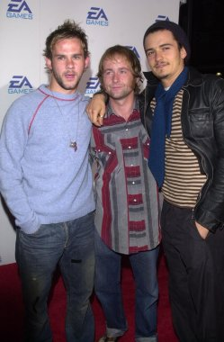 Dominic Monaghan, Billy Boyd and Orlando Bloom