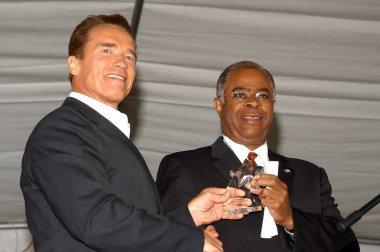 Arnold Schwarzenegger and John Howard