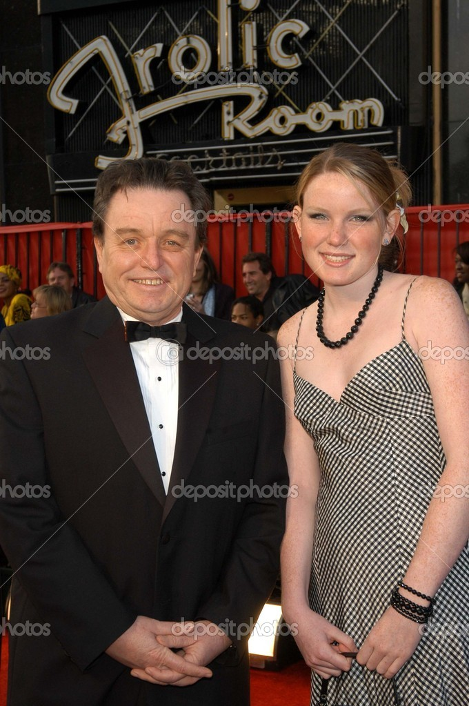 jerry mathers and daughter gretchen � stock editorial