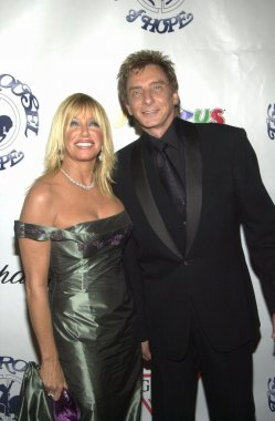 Suzanne Somers and Barry Manilow