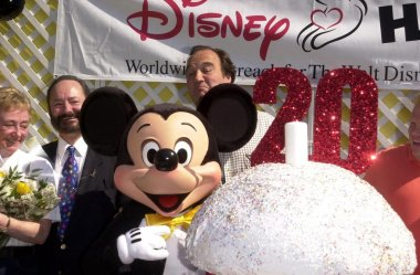 Jim Belushi and Mickey Mouse