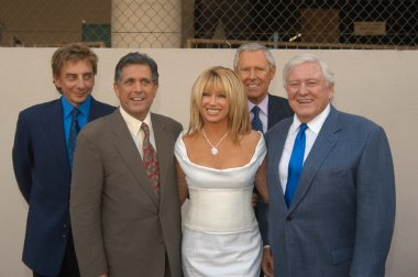 Barry Manilow, Les Moonves, Suzanne Somers, Alan Hamel and Merv Griffin