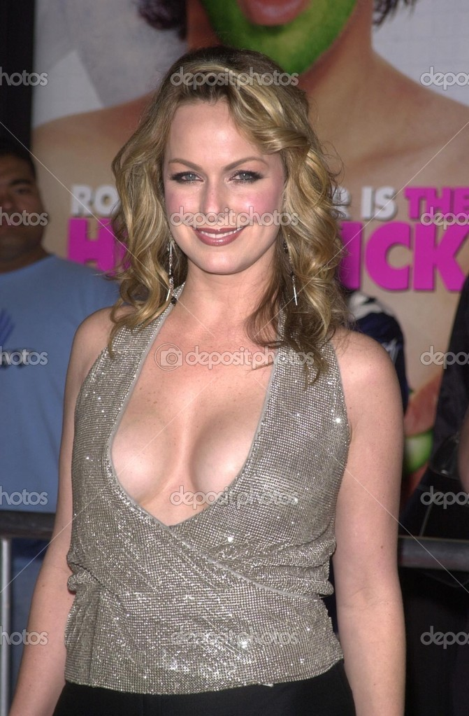 Melora Hardin arriving at the Premiere of Hot Chick at the