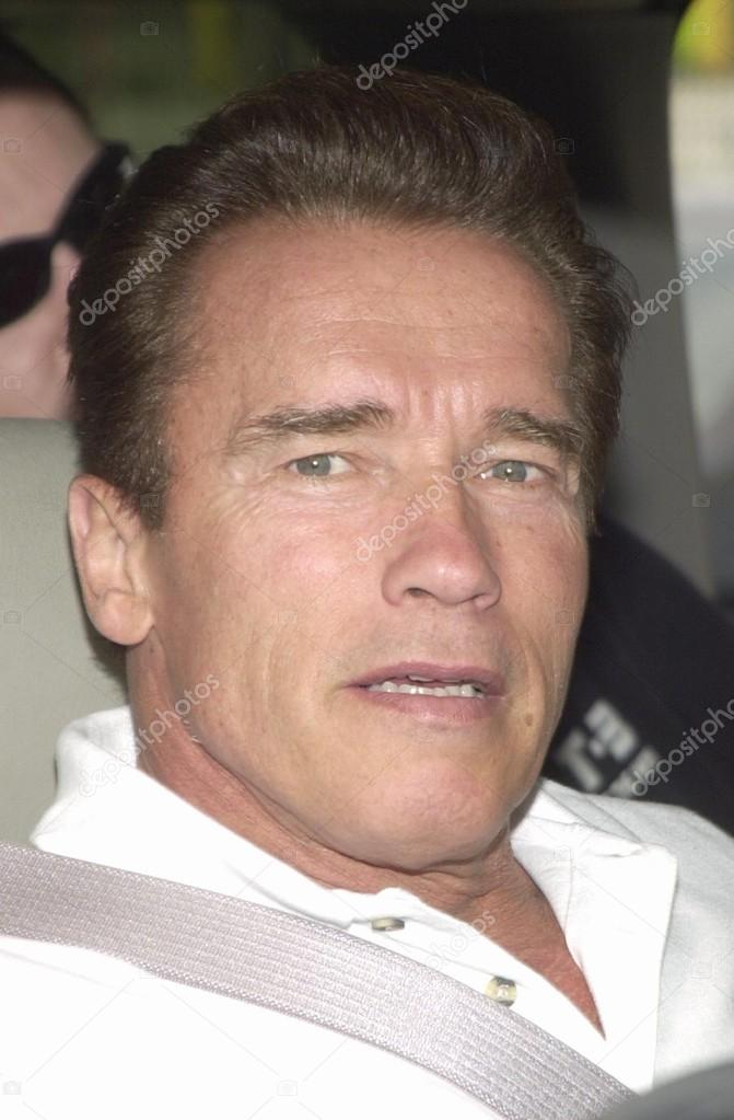 Arnold Schwarzenegger at the Los Angeles Inner-City Games 10th Anniversary Celebration, Hollywood Sports, Bellflower, CA 10-26-02 stock vector