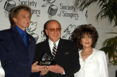 Barry Manilow, Clive Davis and Carol Bayer Sager