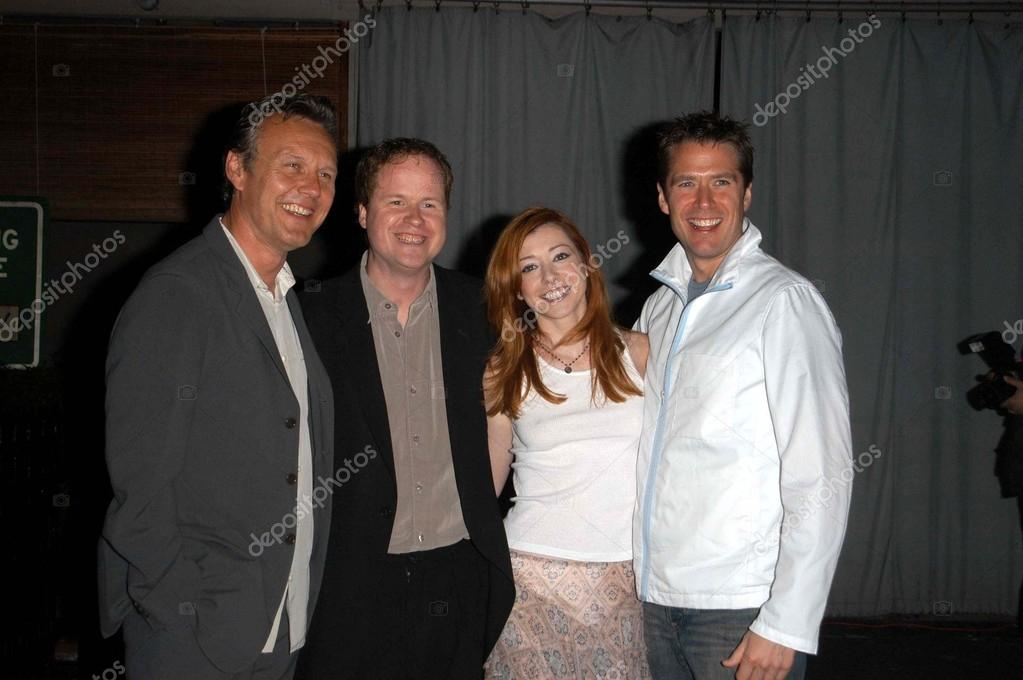 Alyson Hannigan And Alexis Denisof Buffy Anthony Head, J...