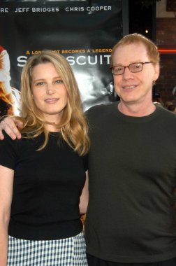 Bridget Fonda and Danny Elfman
