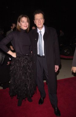 Geoffrey Rush and wife Jane