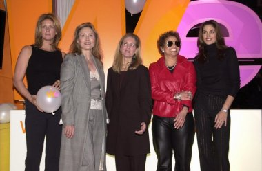 Rachel Hunter, Faye Dunaway, Cindy Crawford, Debbie Allen and Kate McEnroe