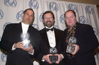 Steve Jobs, Ed Catmull and John Lasseter of PIXAR