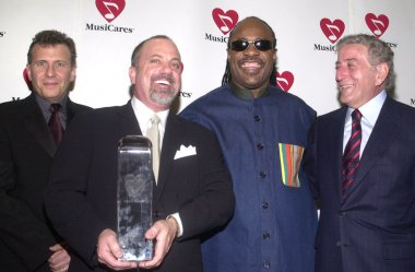 Paul Reiser, Billy Joel, Stevie Wonder and Tony Bennett