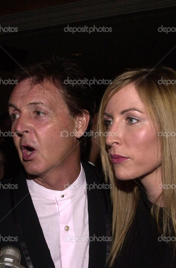 Paul McCartney And Wife Heather Mills Stock Photo