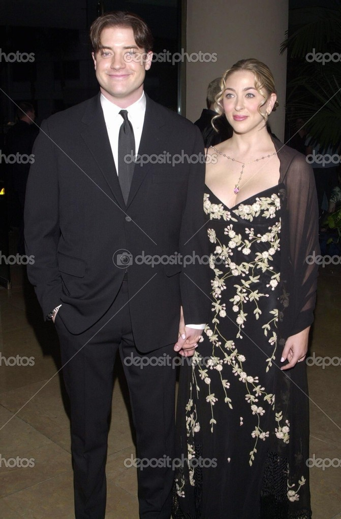 Brendan Fraser and wife Afton Smith – Stock Editorial Photo