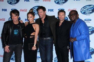 Jennifer Lopez, Keith Urban, Harry Connick Jr, Ryan Seacrest, Randy Jackson