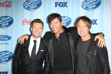 Ryan Seacrest, Harry Connick Jr. and Keith Urban