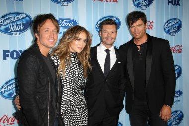 Keith Urban, Jennifer Lopez, Ryan Seacrest and Harry Connick Jr