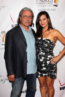 Edward James Olmos and Constance Marie