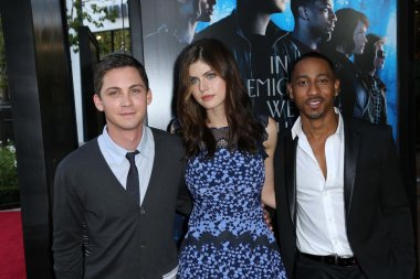 Logan Lerman, Alexandra Daddario and Brandon T. Jackson