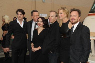 RJ Mitte, Bryan Cranston, Laura Fraser, Bob Odenkirk, Anna Gunn and Aaron Paul