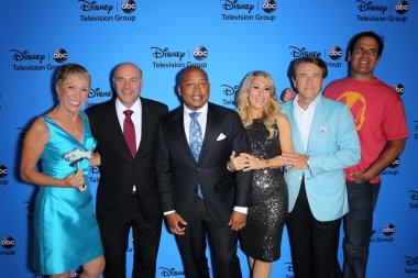 Barbara Corcoran, Daymond John, Kevin O'Leary, Lori Greiner, Robert Herjavec and Mark Cuban