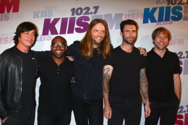 Matt Flynn, PJ Morton, James Valentine, Adam Levine and Mickey Madden of Maroon 5