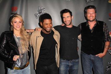 Shakira, Usher, Adam Levine, Blake Shelton